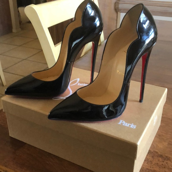 26d3a64b4a Christian Louboutin Shoes - Christian Louboutin Hot Chick 130 Patent Black